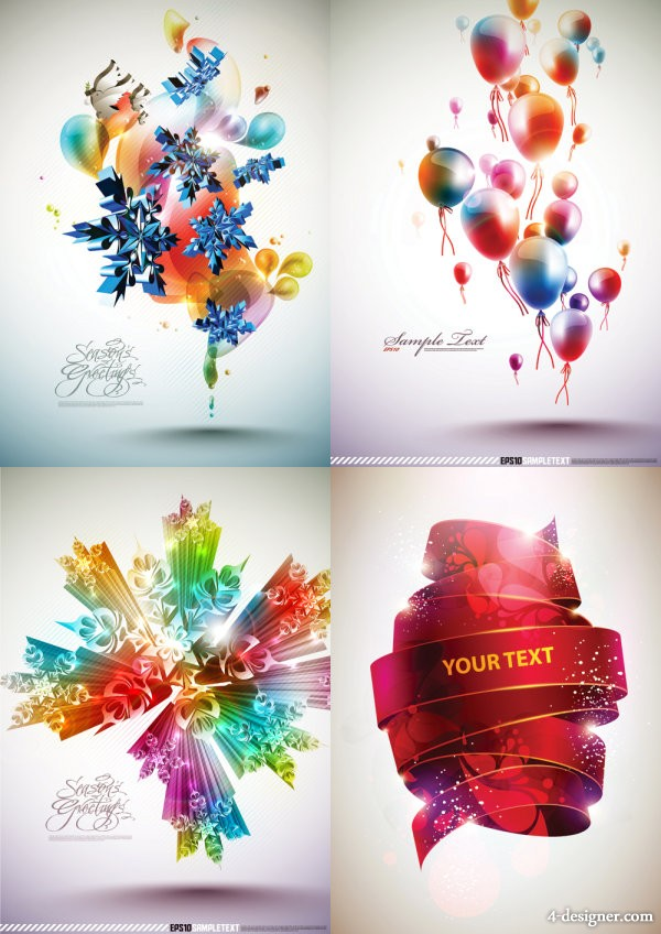 Brilliant dynamic background vector material
