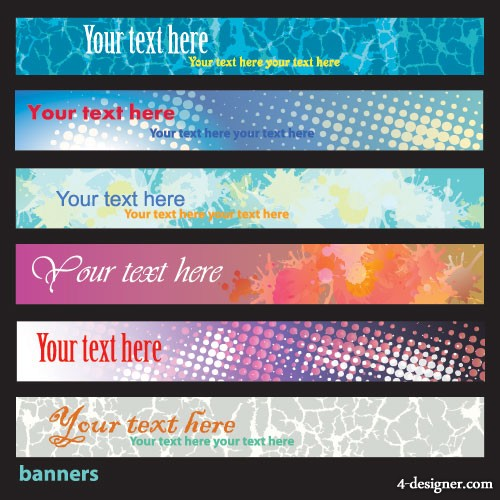 Brilliant dynamic banner 04 vector material