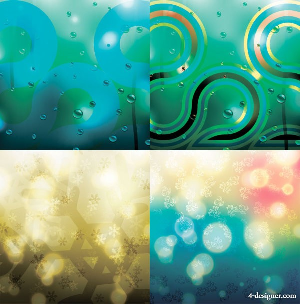 Brilliant fantasy background 04 vector material