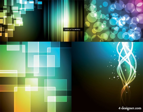 Brilliant light background vector material 2