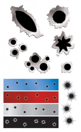 Bullet hole vector material