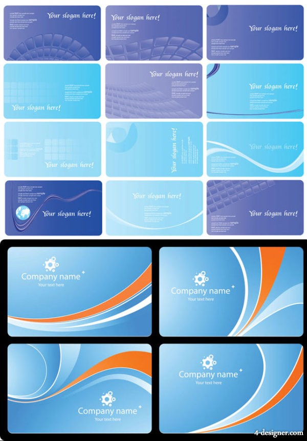 Business card background vector material