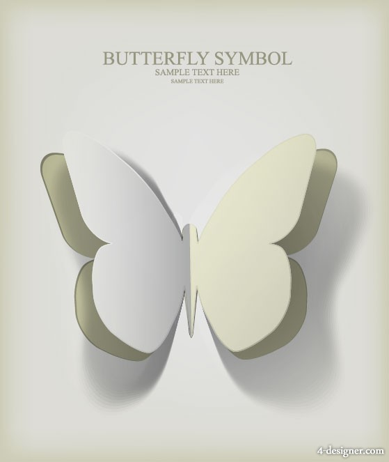 Butterfly paper cut 02 vector material