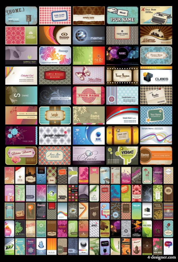 Card background vector material
