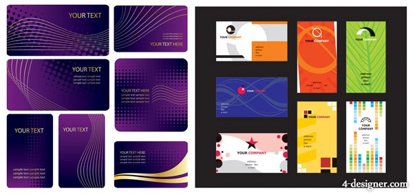 Cards background vector material