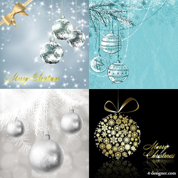 Christmas colored balls background Vector
