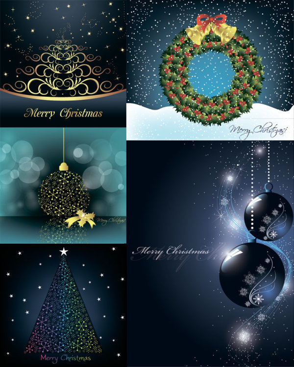 Christmas decorative elements vector material Vector