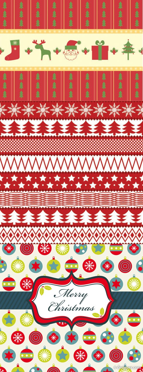 Christmas two party continuous background 02 vector material