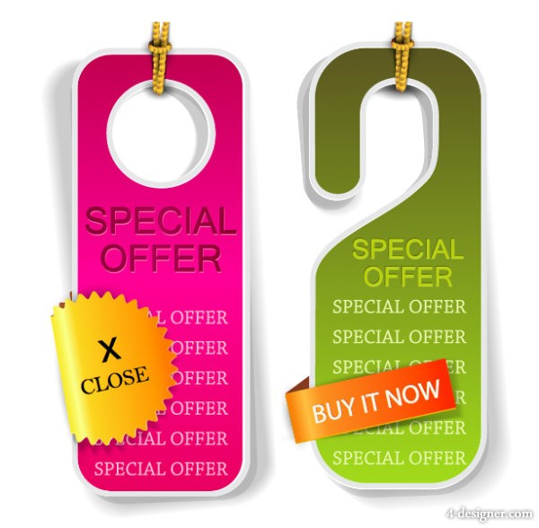 Classic label tag 02 vector material