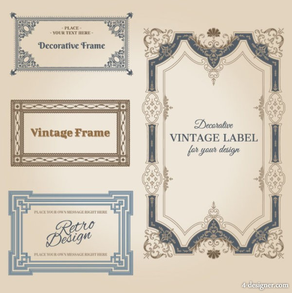 Classic pattern border 01 vector material