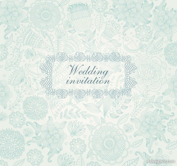 Classical floral pattern 03 vector material