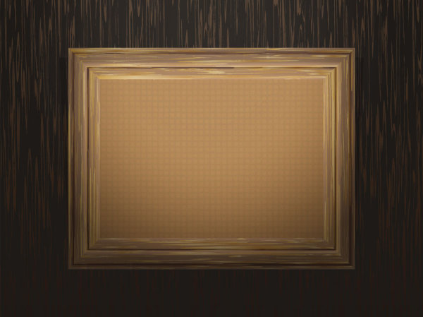 Classical wood grain frame 03 vector material