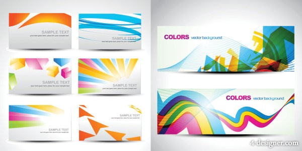 Color card background vector material fashion