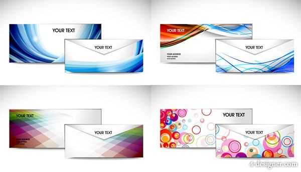Color envelope template vector material