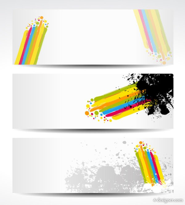 Color note background 05 vector material