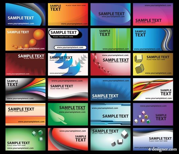Color pattern cards vector