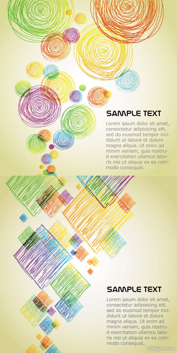 Colored pencil graphics background vector material