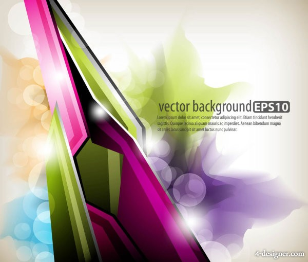 Colorful abstract dynamic elements 02 vector material