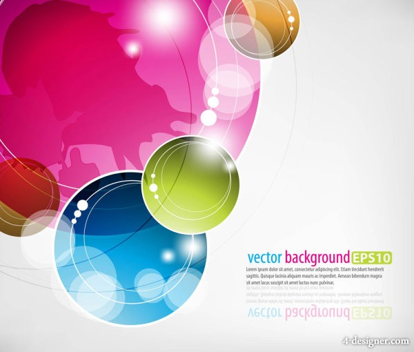 Colorful abstract dynamic elements 05 vector material