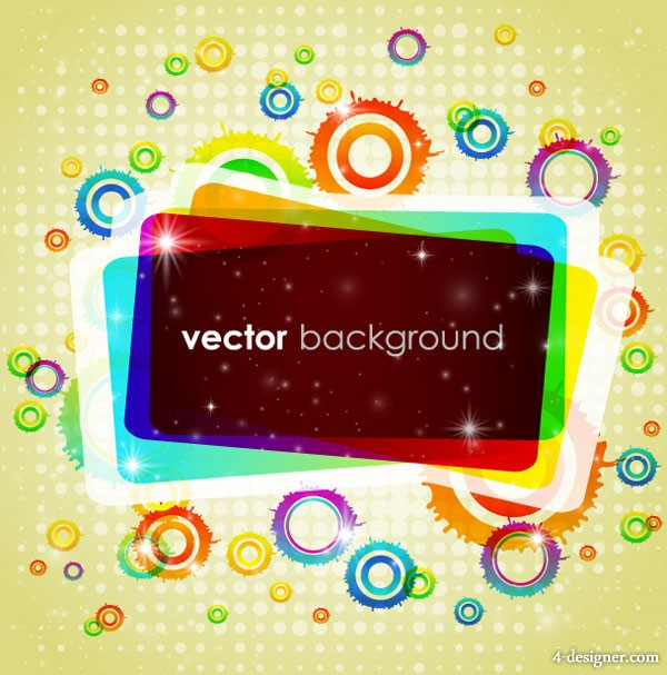 Colorful background vector material 1