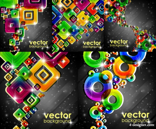 Colorful background vector material