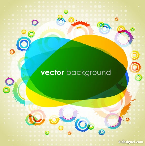 Colorful background vector material 3