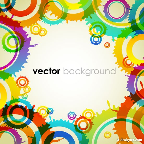 Colorful background vector material 4