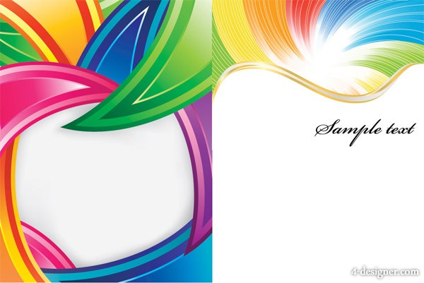 Colorful lines background vector material