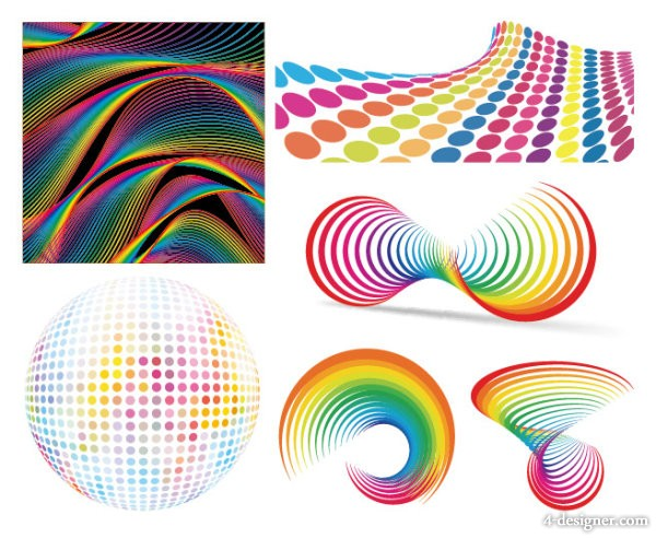 Colorful pattern background vector material