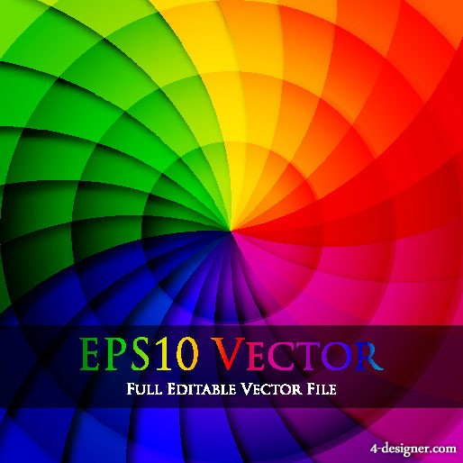Colorful rotating background vector material 3