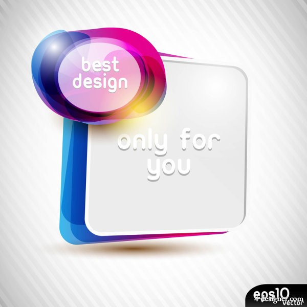 Colorful speech bubble 01 vector material