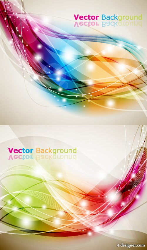 Colorful the brilliant dynamic effects background Vector
