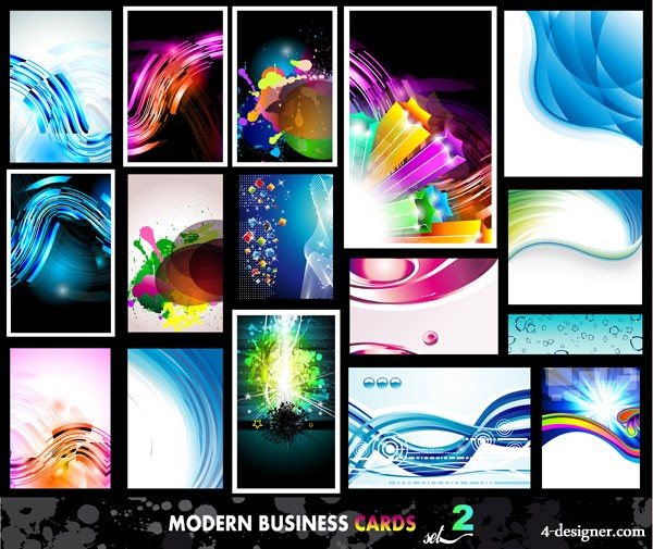 Cool colorful background vector material
