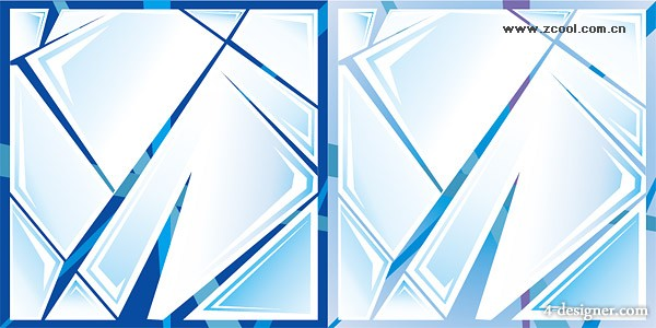 Cracked glass Vector