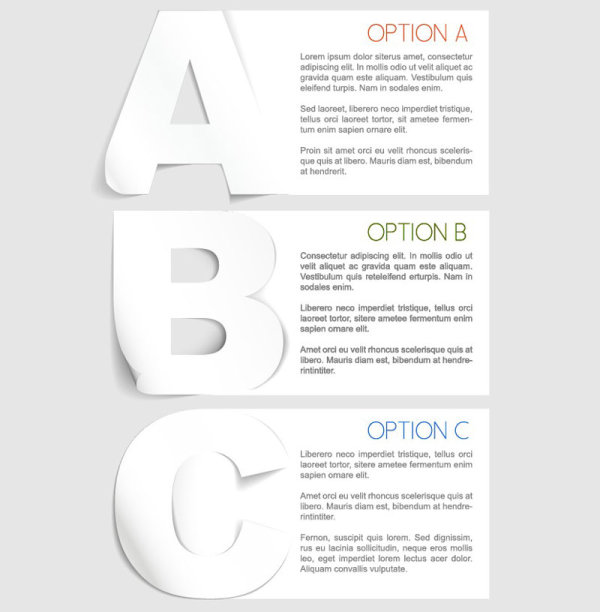 Creative tab labeled stickers 03 Vector