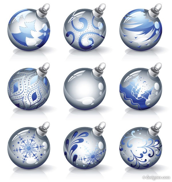 Crystal texture of the Christmas ball Vector