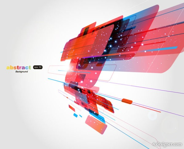 Dazzling dynamic background 02 vector material
