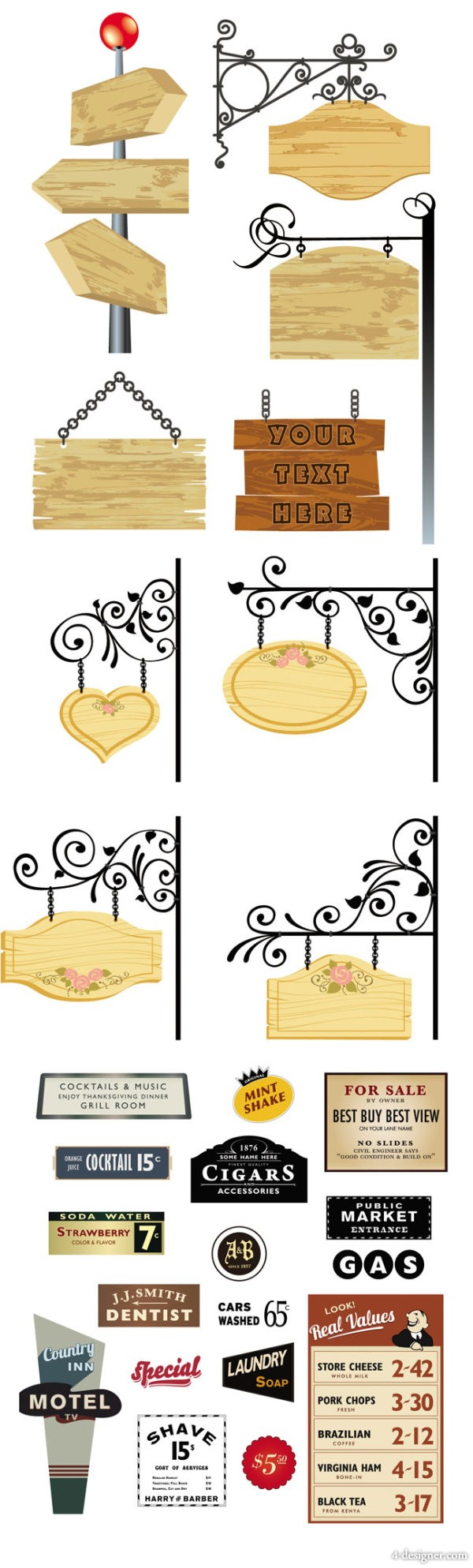 Delicate listed with banner Vector