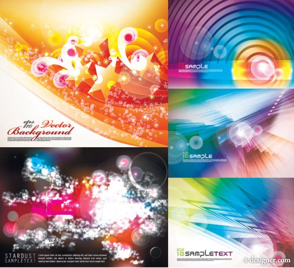 Dream Colorful background vector material