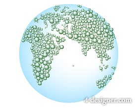 Drops composed of earth vector map 2