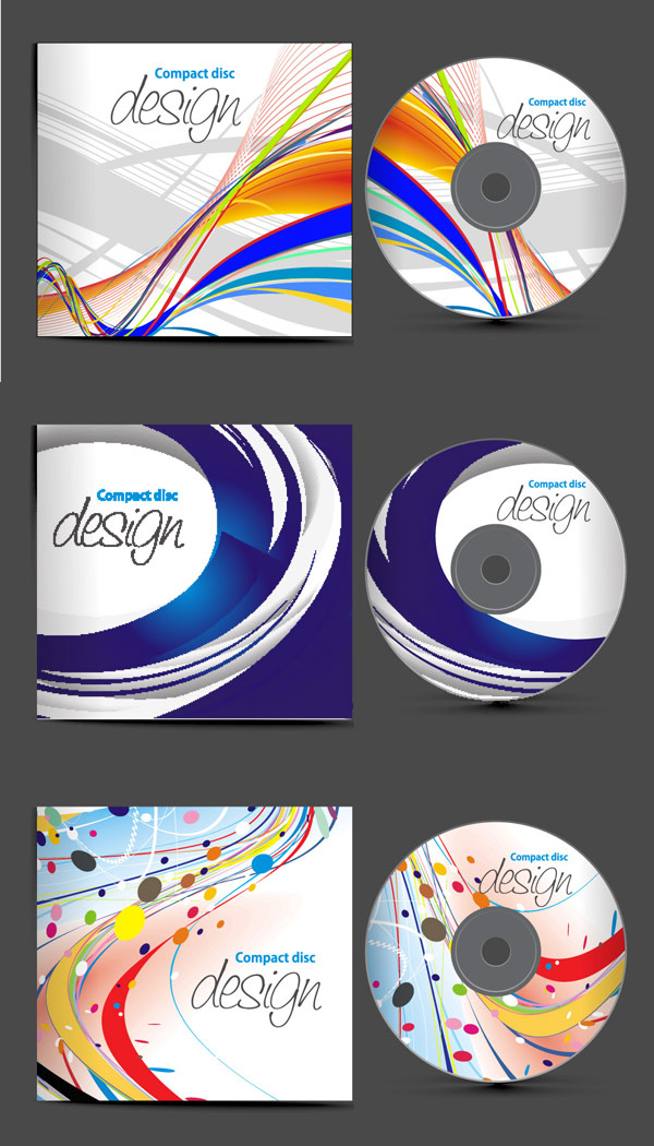 4-Designer | Dynamic CD covers Vector