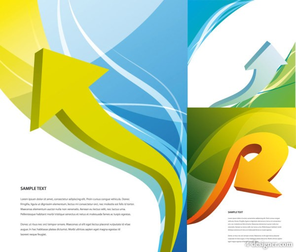 Dynamic arrow with Symphony background vector material