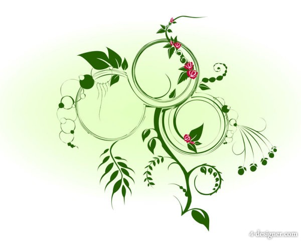 Dynamic green vines Vector