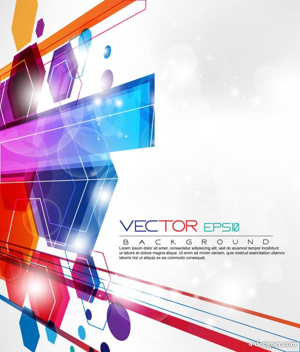 Dynamic set of abstract elements 03 vector material