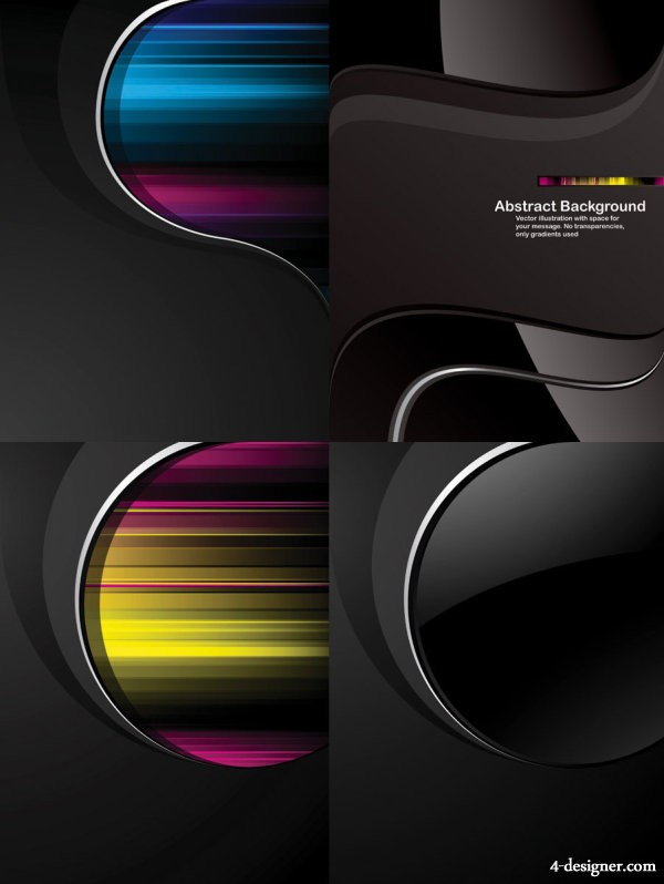 Dynamic the trend black background Vector