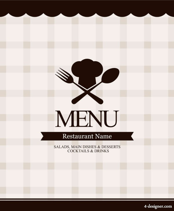 European menu template 12 vector material