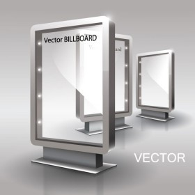 Exquisite glass advertising boxes 02 Vector