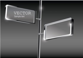 Exquisite glass advertising boxes Vector 04 Vector