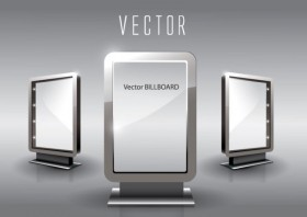 Exquisite glass advertising boxes Vector 05 Vector