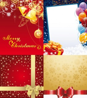 Exquisite holiday ornaments Vector